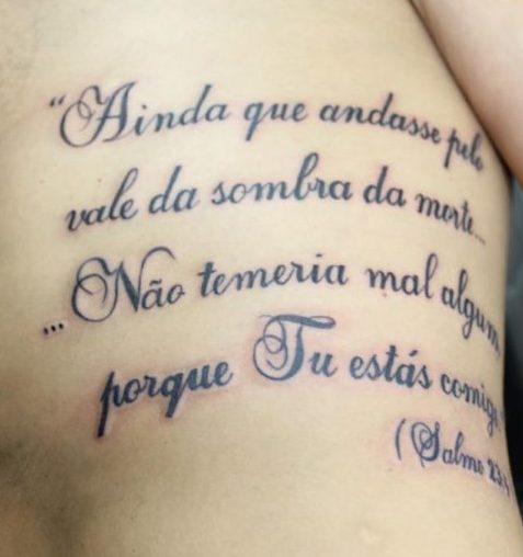 Tatuagem Salmo 23