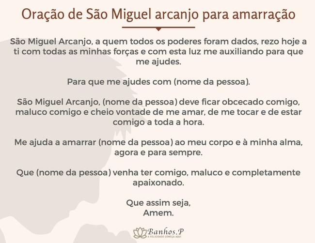 Oração de São Miguel arcanjo para amarração