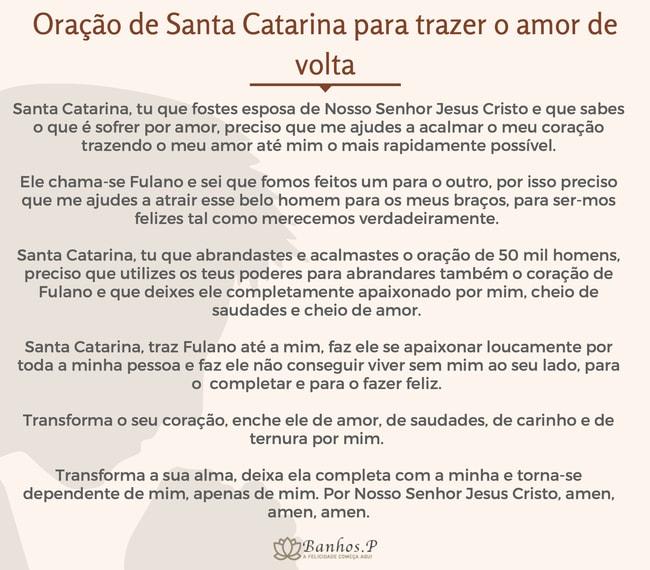 Oração de Santa Catarina para trazer o amor de volta: trazer a pessoa amada em 1 dia