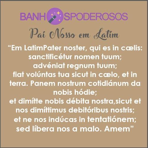 pai nosso em latim imprimir