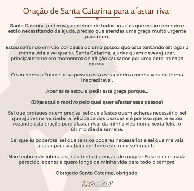 Oração de Santa Catarina para afastar rival imediatamente