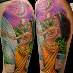 Tatuagem de Lua Oxum