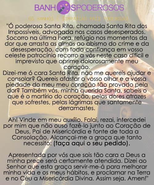 Oração de Santa Rita de Cassia das causas impossíveis