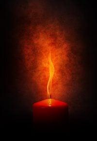 vela vermelha