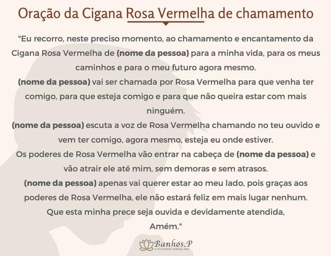 Oração da Cigana Rosa Vermelha de chamamento
