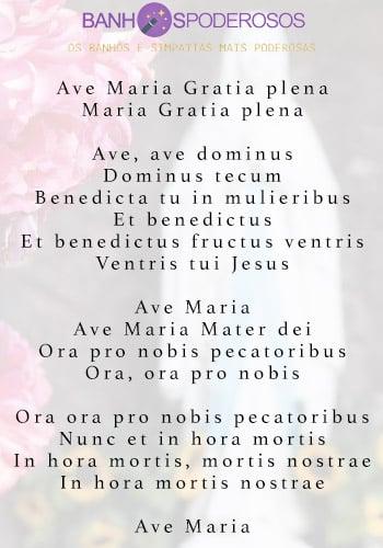 Ave Maria em Latim letra
