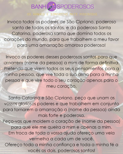 Oração de Santa Catarina e São Cipriano