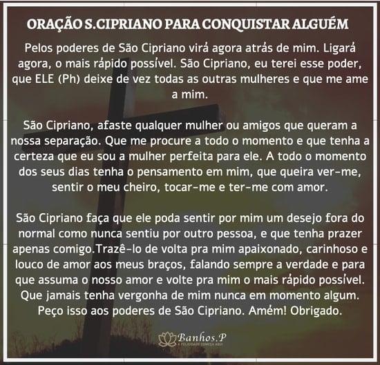 Oração para conquistar alguém a São Cipriano