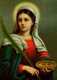 Oração a Santa Luzia para tirar cisco do olho