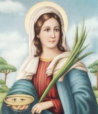 Oração de Santa Luzia para cura dos olhos