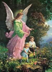 Anjo da Guarda dos filhos para proteção do mal
