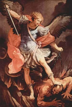 Arcanjo São Miguel lutando