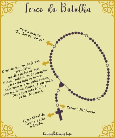 Como rezar o Terço da Batalha Espiritual