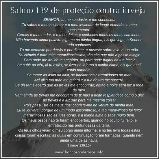 Salmo 139 de proteção contra inveja