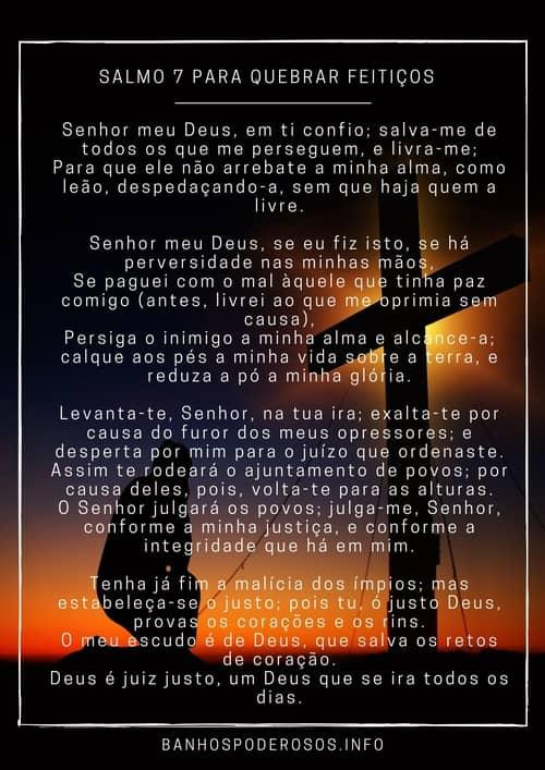salmo 7 para quebrar feitiços