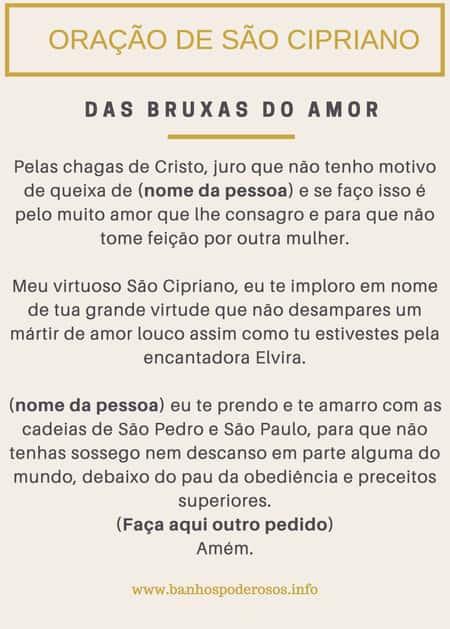 Oração para São Cipriano das bruxas do amor