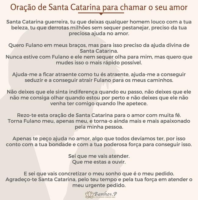 Oração a Santa Catarina para chamar o seu amor ou alguém