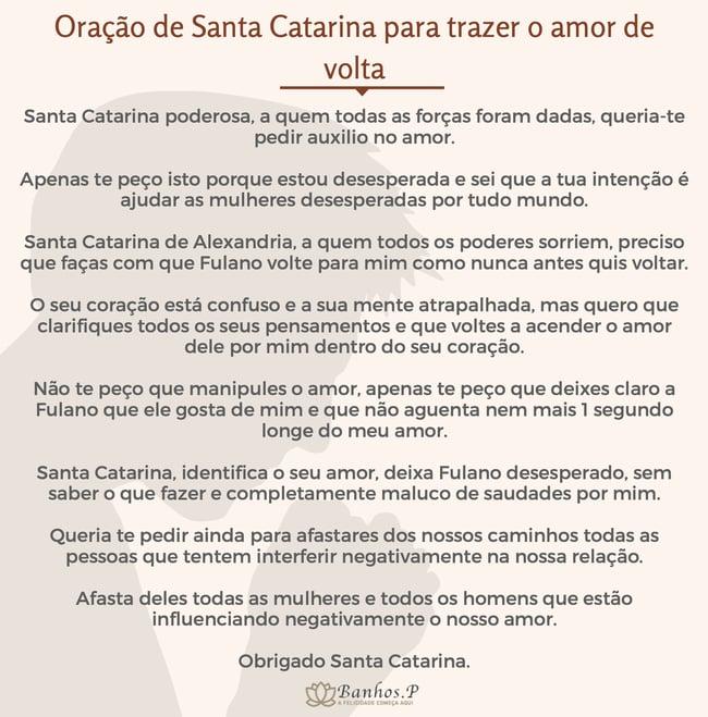 Oração de Santa Catarina para trazer o amor de volta