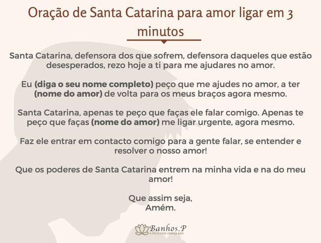 Oração de Santa Catarina para amor ligar em três minutos