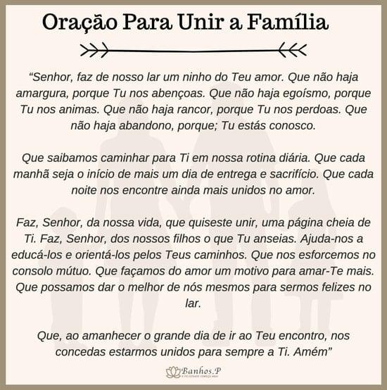 Oração de união familiar