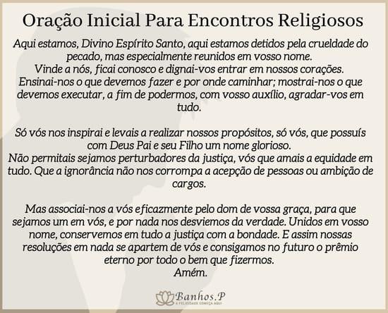 Oração inicial para encontros religiosos