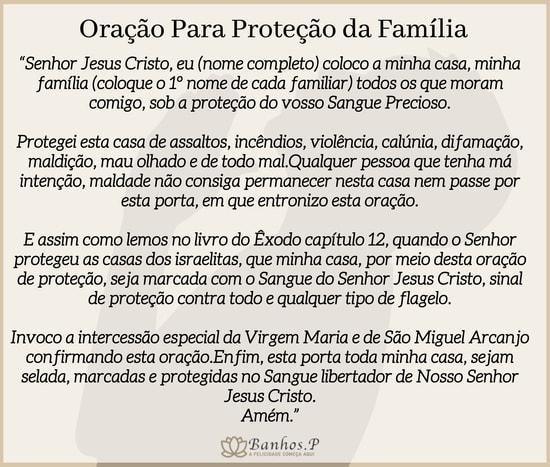 oração de são miguel arcanjo proteção da familia