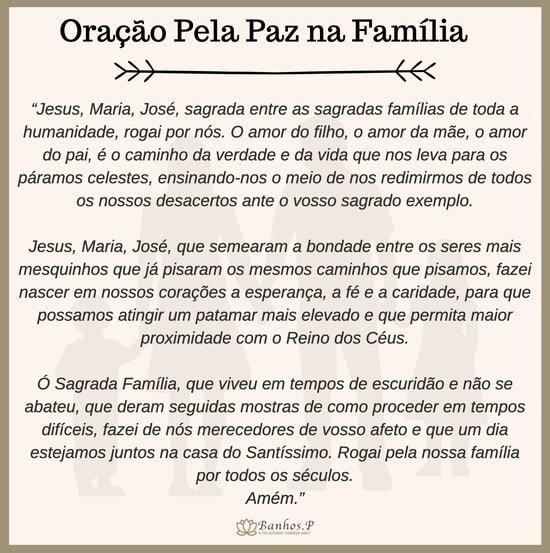 Reza católica pela paz na família
