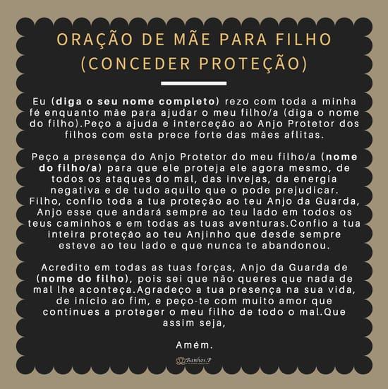 Oração do Anjo Protetor dos filhos