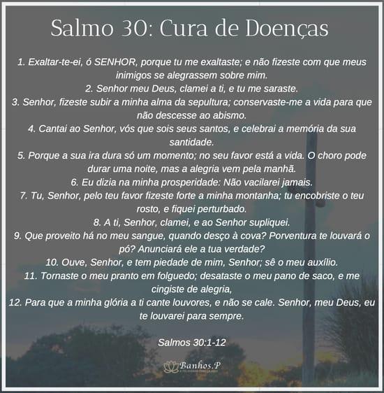 Salmo 30 para cura de doenças