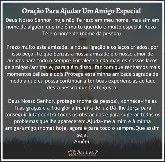 Oração para um amigo querido e especial