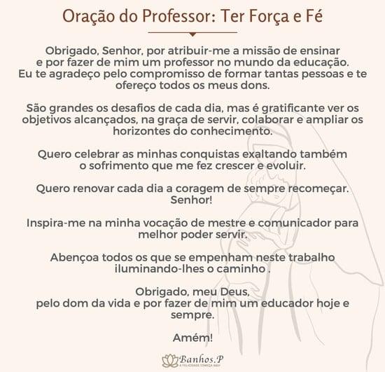 Oração do professor para imprimir