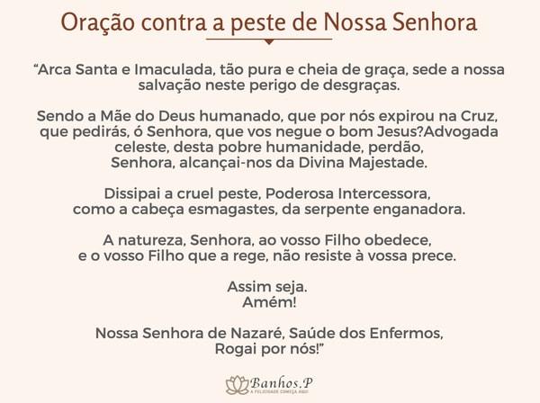 Oração contra a peste de Nossa Senhora