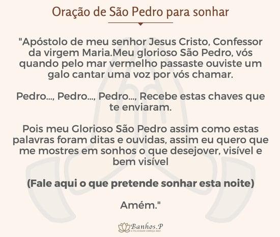 Oração de São Pedro para sonhar