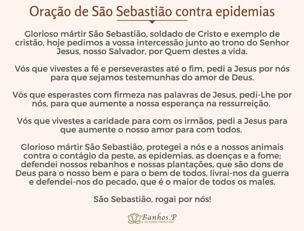 Oração de São Sebastião contra epidemias