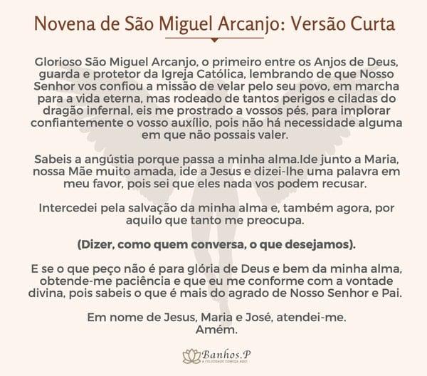 Pequena novena de São Miguel Arcanjo
