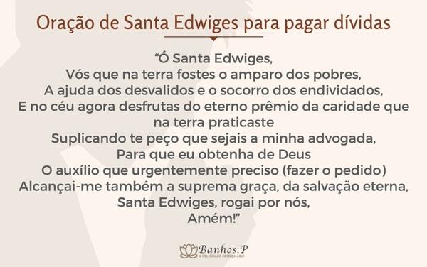 Oração de Santa Edwiges para pagar dívidas