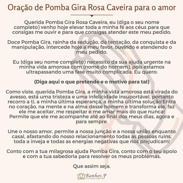 Oração de Pomba Gira Rosa Caveira para o amor