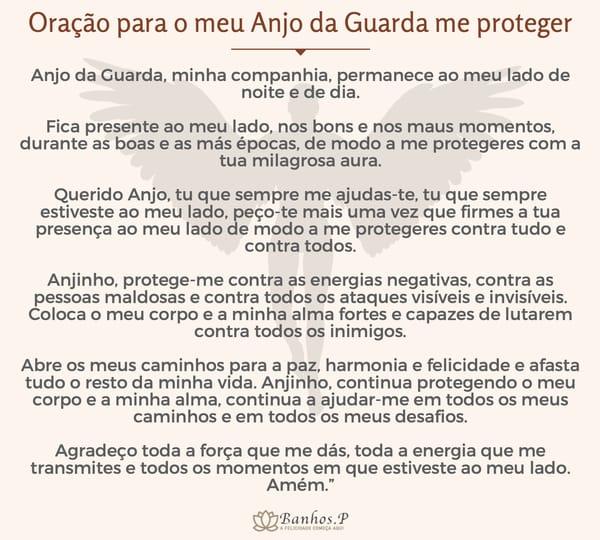 Oração para o meu Anjo da Guarda me proteger