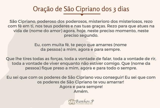 Oração de São Cipriano dos 3 dias