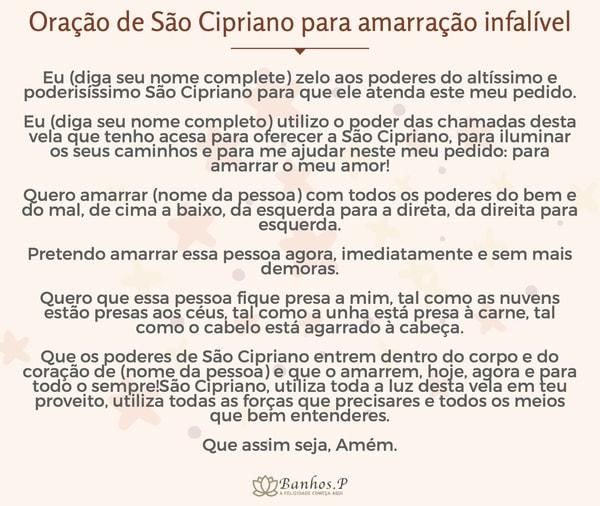Oração de São Cipriano para amarração infalível