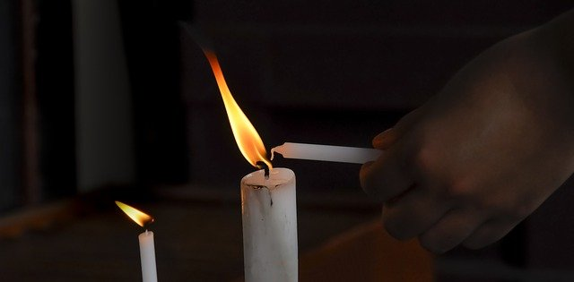 Horário para acender uma vela