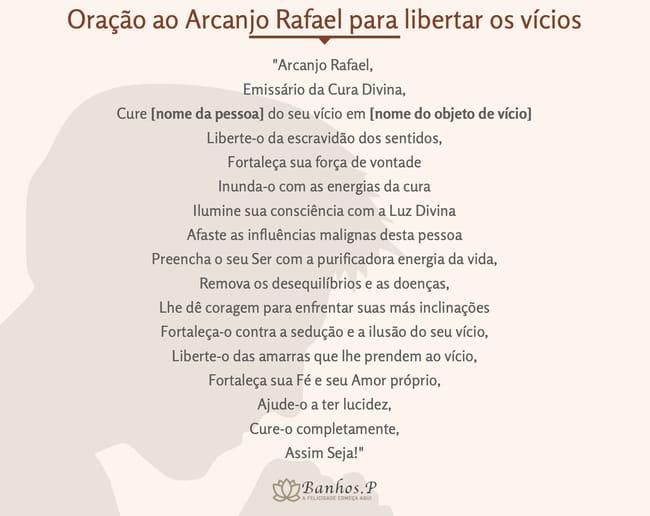 Oração ao Arcanjo Rafael para libertar os vícios