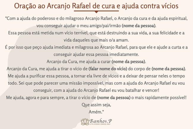 Oração ao Arcanjo Rafael de cura e ajuda contra vícios